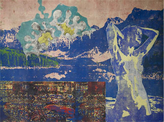 Final Episode 2013, woodblockprint on paper, 154x204cm.